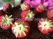 Fondant chocolat fraises chocolatées