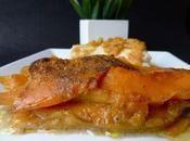 Cabillaud (morue fraîche) gratin courges, coco épices douces