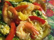 Salade repas tropicale ananas crevettes