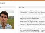 interactif d'un jeune marketeur italien