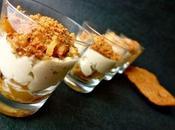 Verrine poire, foie gras, short bread pain d'épices