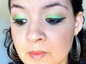 Maquillage fraîcheur: lemon-lime double eyeliner.