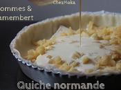 Tarte normande pommes camembert.