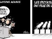 caricaturistes esquissent révolutions arabes