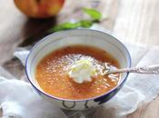 soupe pêche lavande chantilly citron