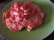 Raviolis farcis provolone jambon Parme, sauce scampis