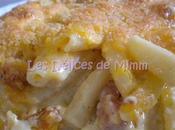 Gratin macaronis lardons