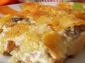 Gratin pommes terre champignons thym parmesan