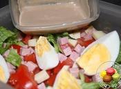 Salade comtoise sauce noisette