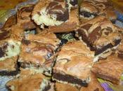 Brownies noix coco, chocolat blanc noir