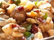mets quoi autour volaille Noël Hein châtaignes, coings cranberries, tout sirop d'érable voyons…