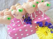 Sucettes macarons forme coeur fraise/citron vert