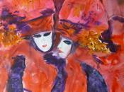 Masques carnaval Venise Aquarelle