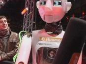 robot interviewer tapis rouge Allemand
