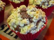 Muffins cacao-chocolat recouverts d'un streusel noix amandes