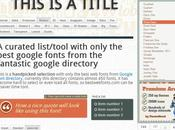meilleur Google Fonts