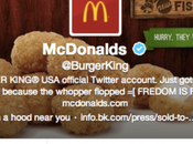 compte Twitter Burger King piraté Donald's