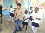 Cote D'ivoire Jamel Debbouze rend visite Case Enfants Fondation Children Africa