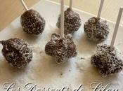 Cake pops chocolat noix coco