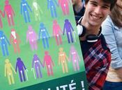 Reportage Photo d'une histoire début autre, Mariage pour tous Réactions dans rues Bordeaux
