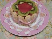 Charlotte kiwis miroir fraise Kiwi charlotte strawberry mirror