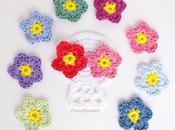 Crochet Sugar Skull appliques colorées rock roll