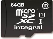 Nouvelle carte mémoire Integral micro SDXC avec haute vitesse transfert