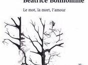 """[parution] Sous direction Peter Collier Ilda Tomas, """"Béatrice Bonhomme, mot, mort, l'amour"""""""
