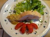 Pavés saumon sauce anchois