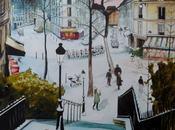 Aquarelle Utrillo sous neige