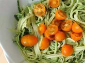 Bouffe: Zucchini pasta Pâtes courgettes.