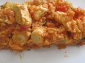 risotto poulet/tomate/poivrons crème