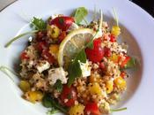 Salade boulgour, quinoa, feta poivrons