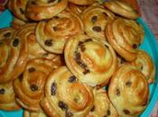 pains raisins pâte levée feuilletée