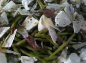 Salade Haricots verts, Mozzarella Anchois