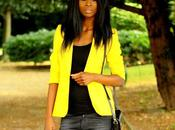 Yellow blazer baggy jeans