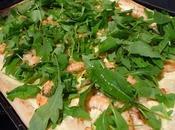 Pizza blanche crevettes roquette