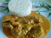 Sauté dinde curry lait coco