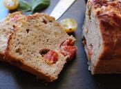 Cake jambon parme, tomates chèvre