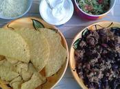 Platos mexicanos Boeuf mexicaine, haricots rouges guacamole