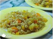 Poêlée légumes courgette, poivron, carotte