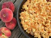 Crumble pêches amandes
