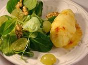 Recettes pommes terre comté épices, salade mâche