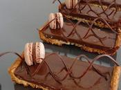 Tartes fines chocolat noir praliné croquant