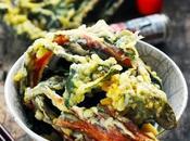 Petit bouillon soba tempura blettes rouges cause plein d'envies même temps