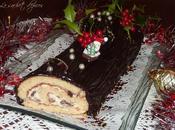 Bûche chocolat, rhum raisins
