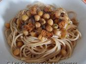 Sauce rapide pois chiches olives pour Spaghettis