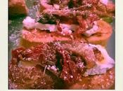 Pain perdu jambon grillé, tomates confites fromage fondu