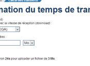 comment calculer temps d'un transfert upload fichiers