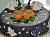 """Gâteau yaourt pâte sucre thème """"Halloween"""" (halloween cake)"""